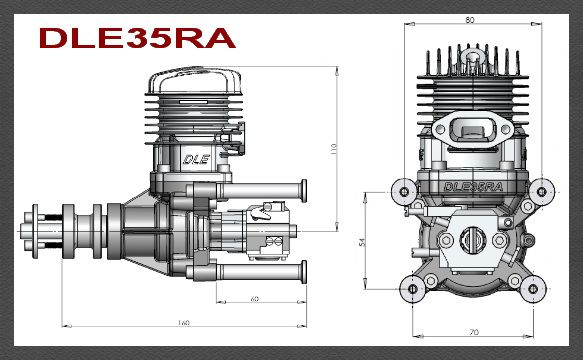 dle 35ra two stroke petrol engine [5] 4672 p dle 35ra two stroke petrol engine